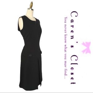 Calvin Klein Black Inverted Pleated Jumper Dress